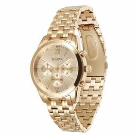 16e035ddc47 Relogio Masculino Dourado - Relógio Bulova Masculino no Mercado ...