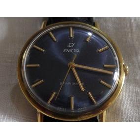 Reloj Enicar Star Jewels Cuerda Vintage De Colección