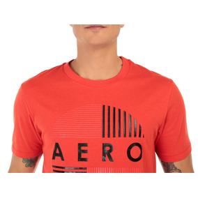 Playera Aéropostale Cuello Redondo Algodón Roja