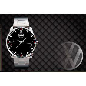 Relógio De Pulso Personalizado Logo Vw Gol Quadrado Cl Gl