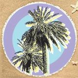 Canga De Praia Redonda Personalizada Lixnos Roxo Adulto