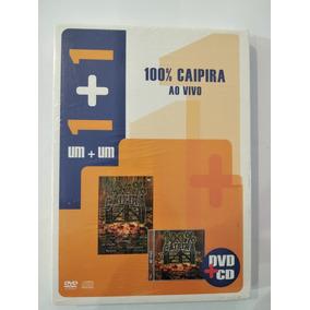 Dvd+cd 100% Caipira Ao Vivo - Lacrado De Fábrica Com Luva