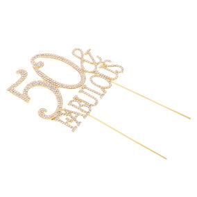 9f56dfff7d Glitter 50 Fabuloso Letras Cake Topper Cristal Aleación Cup