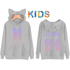 Blusa Moletom Infantil Bts Kpop J-hope 94 Orelhinha Canguru ee734bd86da