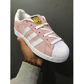 Tênis adidas Superstar Camurça Rosa Branco + Envio Grátis