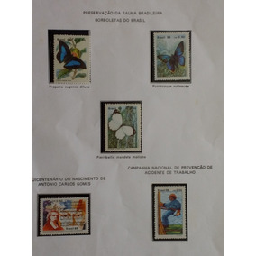 S08= Parte De Coleçao De Selos Do Brasil 1986 5 Selos