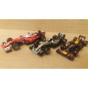 Kit 3 Miniaturas F1 1:43 Mercedes Red Bull E Ferrari Burago