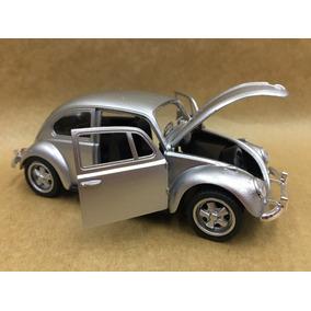 Miniatura Fusca 1967 Na Cor Prata Rodas Esportiva