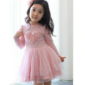 Vestido Infantil Menina Manga Longa 100% Algodão