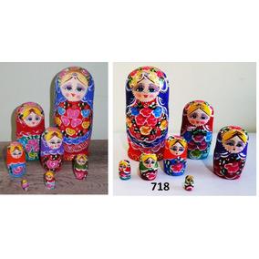 Bonecas Russas Matrioska 722 7peças 21-22cm Mamuska Frete G