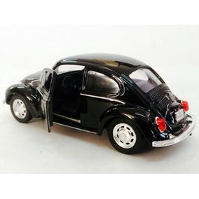 Fusca Preto 1:34 City 12 Cm Fuscao Black Volkswagen