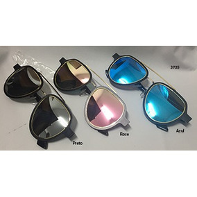 Oculos Aviador Espelhado Lente Rosa - Óculos De Sol no Mercado Livre ... 8f7d5892a7