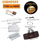 Espeto Giratório Girofest Master Plus 5 Anos Garantia Maleta