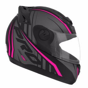 Capacete Moto Feminino Pro Tork 788 G6 Preto Fosco Rosa