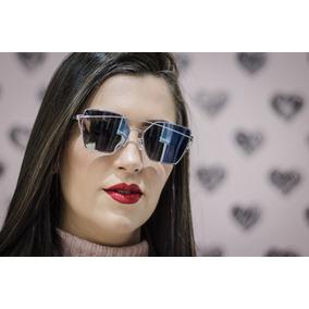 430442e0673f6 Oculos De Sol Grande Feminino Octagonal Love Punch Espelhado · R  79 99