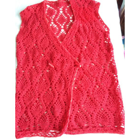 Tejidos Crochet Chalecos Calados Fantasia - Ropa y Accesorios Rojo ... dd642dfb4aa4