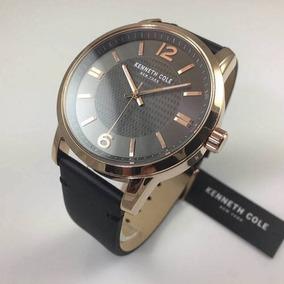 Nuevo Reloj Kenneth Cole Hombre Cuero 100 % Original Elegant