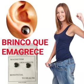 Par De Brincos Ponto Magnetico Emagrecedor Unissex