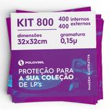 400+400 Capa Lp Disco Vinil 32x32 0.15 Externo E Interno