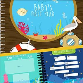 Libro De Recuerdos Del Primer Año Del Bebé Con 12 Pegatinas