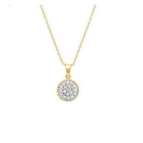 Pingente Chuveiro Diamantes De Ouro 18k + Corrente De Ouro. R  1.670 88a5ff6502
