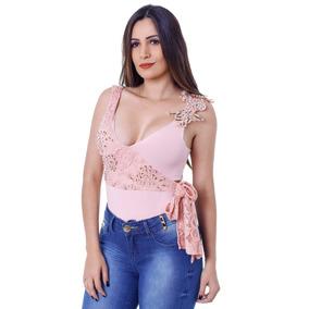 Body Feminino Zigma Bordado Com Laço Lateral Lindo De 199,99