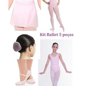 Kit Roupas Ballet Infantil Capezio 4 Ítens + Brinde