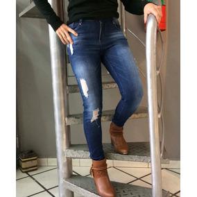 Roupas Femininas Calça Jeans Com Lycra Da Moda Trama Rasgos
