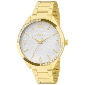 Relógio Condor Feminino Dourado Banhado 18k Co2035krt/4b