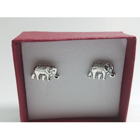Aretes De Elefante Plata Ley .925