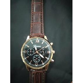 Relógio Geneva Pulseira De Couro Frete Grátis