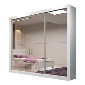 Guarda-roupa Veneza Plus Com Espelho - 3 Portas - Branco
