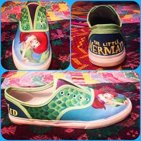 Zapatos La Sirenita Ariel Disney Diseño Hecho A Mano Marca C
