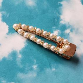 Broche Perlitas Con Piedras
