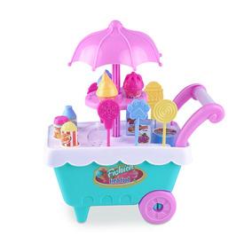 Mini Carrinho De Sorvete - Brinquedo - 16 Peças
