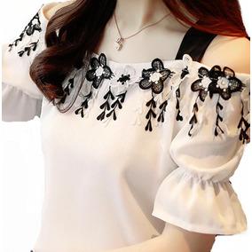 Camisa Feminina Blusa Manga Curta Social Foto Real De Luxo