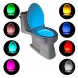 Sensor Led Impermeable Oscuridad Baño Wc Inodoro 8 Colores