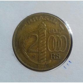 Moeda Bronze 2000 Réis 1937 Duque De Caxias No Coin Holder