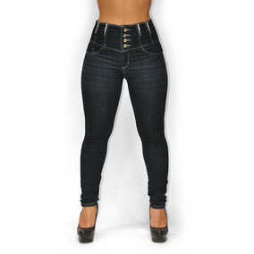 887076af3 Calça Jeans Modela Bumbum 709 Azul Escura Cintura Super Alta