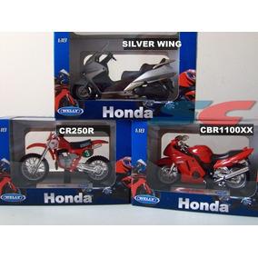 Kit Honda 3 Motos(cbr1100xx +silver Wing+ Cr250r) 1/18 Welyl