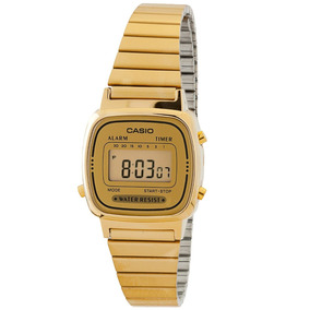 6a61c2f8732 Relógio Casio Feminino Retro Mini La670ga-9df Vintage Na Cx. R  159