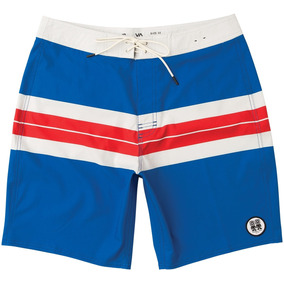 Boardshorts Rvca, Mod. Campbell Brothers 19 Trunk, Color Blu