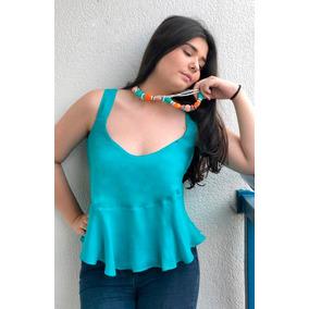 Blusa Feminina Étnico Decote Quadrado Viscose Roupa Da Moda