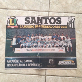 Jornal Lance Santos Campeão Libertadores 2011 Pôster
