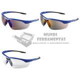 0da922ca0f325 Kit 5 Óculos De Proteção Veneza Kalipso Azul Fume Ou Incolor