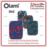Canoplón Olami Con División. Con Dibujos En Tela Plastica