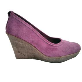 Elegantes Zapatos De Plataforma Muchavida Gamuza Violetas