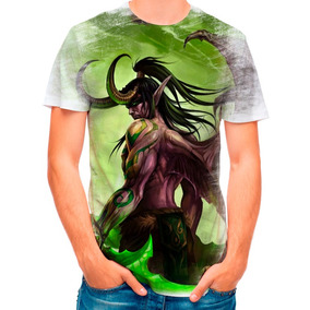 Camisa Camiseta World Of Warcraft Illidan 4622 2ad5b95fbea41
