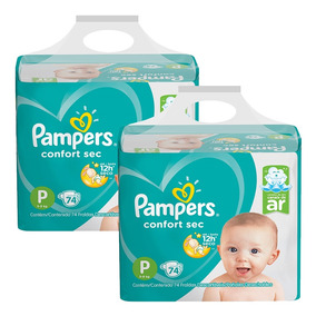 Kit Fralda Pampers Confort Sec Super Tam: P 148 Unids.