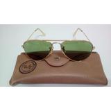 f6d145eac35a2 Oculos Ray Ban Original E Antigo De Ouro E Porta Oc couro